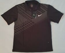 Nike Golf Dri-Fit Polo Shirt Short Sleeve Black Mens XL