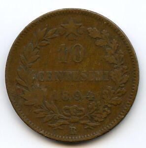 Italy Umberto I (1878-1900) 10 Centesimi 1894 Rome