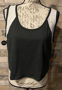 NEW RELEASE Lularoe Powerful Mesh Blocked Crop Tank Shirt Beautiful 1X 1XL Nwt