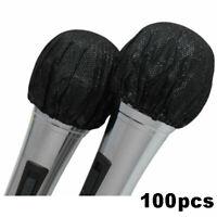 100 Pcs Disposable Microphone Cover Non-Woven Protective Cap For Karaoke NEW