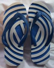 Blue White Volkswagen Vw Women's Flip Flops Nwot Cool Collectible Size 9/10