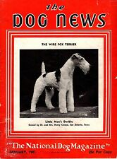 Vintage Dog News Magazine January 1941 Fox Terrier Cover