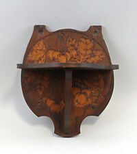 99865174 Wand - Konsole Regal Hartholz dunkel Kirschbaum-Motiv