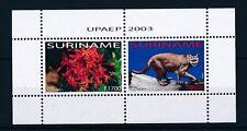 [SU1216] Suriname Surinam 2003 UPAEP Puma Flower Souvernir Sheet MNH