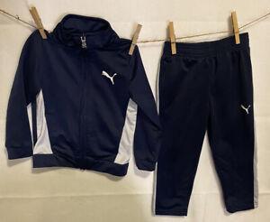 3T Puma Baby Boy Girl 2pc set pants jacket Kids Toddler Blue Track Suit Size 3