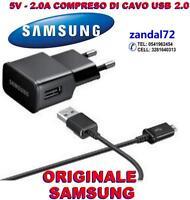 CARICABATTERIA + CAVO USB 2.0 SAMSUNG ORIGINALE S7 S7EDGE ETA-U90EWE NERO GALAXY