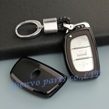 Piano Black Smart Key Chain Protector Shell For Hyundai Sonata Tucson Elantra