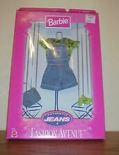 1997  ~ Barbie Fashion Avenue Authenic Jeans ~ Blue Jean Jumper  ~ New T-8