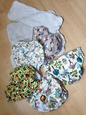 5 Baby Stoffwindeln mit Windel Einlagen wiederverwendbare Windeln Gr.verstellbar