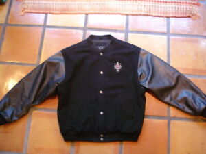 DETROIT GOLF CLUB Leather Sleeve Letter Style XL JACKET by Gear For Sports