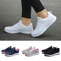 Fashion Women Mesh Round Toe Flat Sneakers Running Sport Athletic Casual Shoes