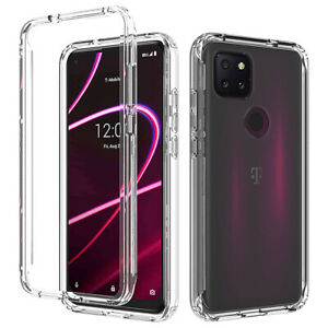 For T-Mobile Revvl 5G Clear Shockproof Case full body Rubber TPU Phone Cover