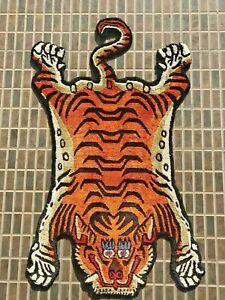 Tibetan cute silk Tiger skin rug