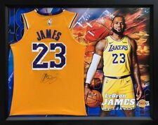 ", LeBron James Personally Signed LA Lakers Gold ""Icon"" Jersey, Framed, with COA"