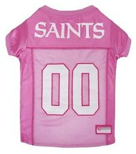 """NFL New Orleans Saints Pink Mesh Jersey for Pets, X-Small Fits 6"""" - 8 1/2"""" Neck"""
