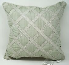 "Croscill Caterina Bedding Collection 18"" Geometric Decorative Bed Pillow - Sage"