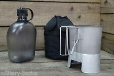 US Feldflasche Gen.II Molle Canteen cup Feldflaschenbecher Kocher schwarz NEU