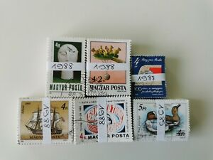 Hungary 1988/89 Mix used stamps bundles 6 x 100  #541