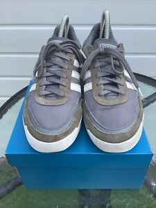 Mens Adidas PT Trainers Grey Blue Suede Nylon Size 9