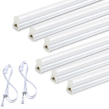 10 Pack T5 Integrated 20W 4FT LED Tube Light Fixture 6500K 2200LM LED Shop Light