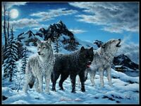 Night Howl - Chart Counted Cross Stitch Patterns Needlework DIY DMC Color 14 ct