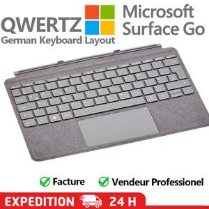 Clavier Microsoft Surface Go 2  Signature Type Cover ALCANTARA Gris - QWERTZ