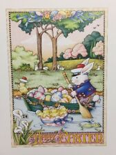 Vintage Mary Engelbreit Happy Easter Clip Art Repurpose Calendar Page
