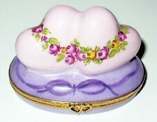 LIMOGES BOX ~ ARTORIA ~ LE 64/1000 ~ 2 HEARTS & ROSES ~ I LOVE YOU ~ ANNIVERSARY