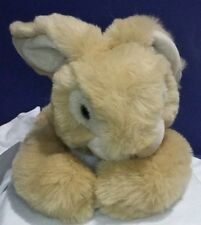 Russ Berrie Bunny Rabbit Dancer Baby Plush Animal Lop Eared Lying Down 13 Inches