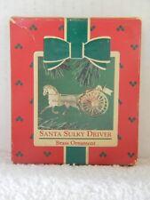 SANTA SULKY DRIVER - HORSE CARRIAGE - BRASS - HALLMARK ORNAMENT - 1984