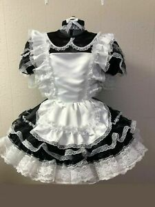 Sissy  maid satin dress Cosplay dressers Tailor-made