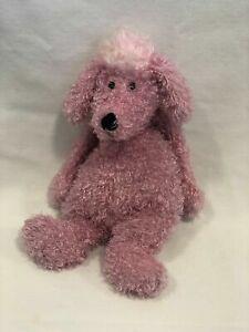 "Jellycat Bashful Poodle Pink Mauve Plush Stuffed Animal Dog Puppy Soft Toy 12"""