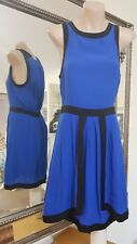 Wish Blindsided dress in blue.Sz8.Viscose. Excellent condition