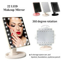 Hot Touch Screen 22 LED Makeup Mirror Tabletop Lighted Cosmetic Vanity Mirror