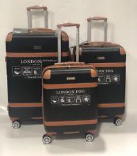 c9af9d5b9 London Fog Vintage Hardside Spinner Lightweight Luggage Set Black Expandable