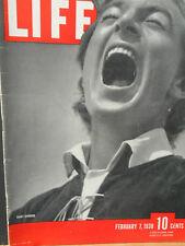 WWII Life Magazine Feb 7 1938 Gary Cooper, Joe Louis, U.S. New Navy