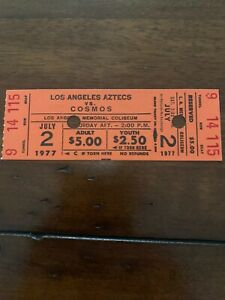 1977 NY COSMOS v LA AZTECS, PELE v BEST TICKET FROM THEIR LAST MEETING