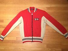 Vintage 70s Fila BJ Bjorn Borg Settanta MK1 US 40 Red Cream Tennis Jacket