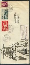 French  Morocco, to Belgian  Congo  nice cachet  flight cover 1953       EX0522