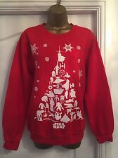"Unisex Star Wars Red Christmas Jumper / Sweatshirt Size S * 38"" Chest"