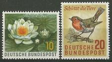 Germany (West) 1957 MNH - Nature Protection Water Lily Robin Mi-274/5 SG-1193/94