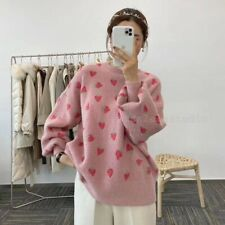 korean fashion Cashmere Strawberry Sweater