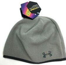 NWT Womens UA Under Armour ColdGear Storm Fleece Winter Hat Skull Cap Gray  O S 5f9af66c3aa5