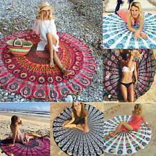 Bohemian Mandala Beach Tapestry Hippie Throw Yoga Mat Towel Indian Roundie UK