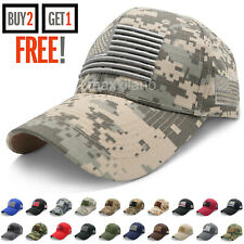 Baseball Cap for Men Tactical Army Cotton Dad Hat USA American Flag Caps Trucker