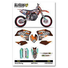 2007-2010 KTM SX-SXF Munn Racing Dirt Bike Graphics kit Motocross Graphics Decal