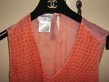 CHANEL PARIS RUNWAY $3K TINY DISC OGANZA SILK SEXY HIPPIE CHIC CLUB PARTY TOP 40