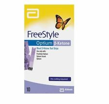 Abbott Freestyle Optium Ketone Test Strips Pack of 10 (Unboxed)