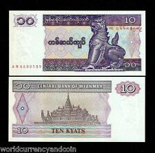 MYANMAR 10 KYAT P71 1997 BUNDLE CHINZE UNC BURMA WHOLESALE CURRENCY BIL 100 NOTE