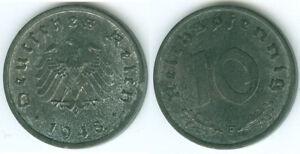 Alliierte Besatzung 10 Reichspfennig 1948 F  prägefrisch